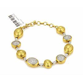 Gurhan 2 18K White Gold, 24K Yellow Gold Diamond Bracelet