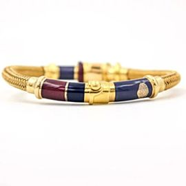 La Nouvelle Bague Bracelet in 18k Yellow Gold and Sterling Silver with Enamel