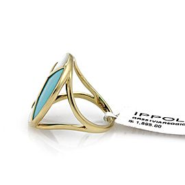 Ippolita Rock 18K Yellow Gold Turquoise, Lapis, Mother Of Pearl Ring Size 7