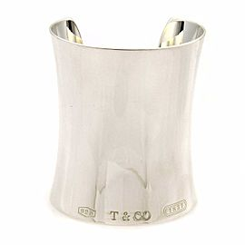 Tiffany & Co. 1837 Sterling Silver Extra Wide Contour Cuff Bracelet