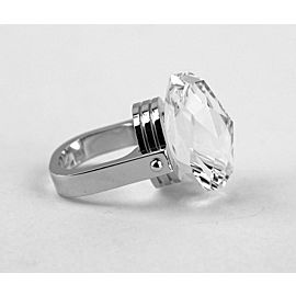 BACCARAT JEWELRY BOUCHONS DE CARAFE STERLING SILVER CLEAR RING SIZE 55 EU -7 US