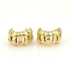 Tiffany & Co. Vannerie 18K Yellow Gold Earrings
