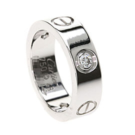 Cartier Love Ring 18K White Gold and Diamond Size 4.5