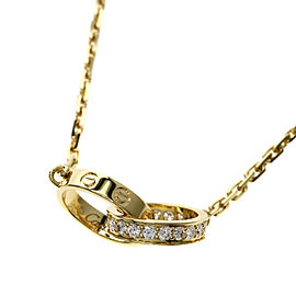 Cartier Baby Love Necklace 18K Yellow Gold Diamond