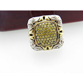 Charles Krypell 192677668462-E 18K Yellow Gold, Sterling Silver Sapphire, Diamond Rings Size 6.75