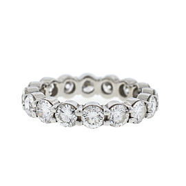 18k White Gold Diamond Eternity Band Ring 3.75Cts