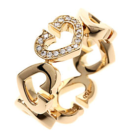Cartier Heart 18K Rose Gold Diamond Ring Size 4.75