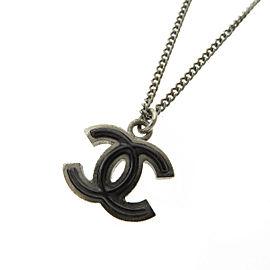 Chanel Silver Tone Metal Necklace