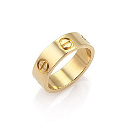 Cartier 18K Yellow Gold Ring Size 5