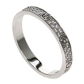 Cartier 18K WG Love Diamond Ring Size 5.25
