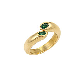 Cartier 18K Yellow Gold Emerald Ring