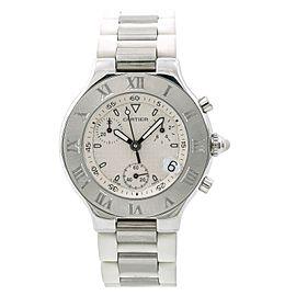 Cartier Must 21 Chronoscaph 2424/W10184U2 38mm Mens Watch
