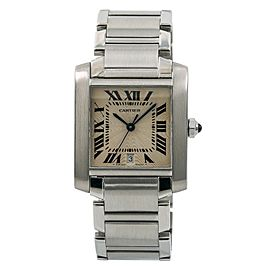 Cartier Tank Francaise 2302/W51002Q3 31mm Mens Watch