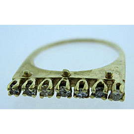 14K YELLOW GOLD LADIES DIAMOND RING SIZE 7.75