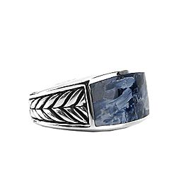 David Yurman Sterling Silver Pietersite Ring Size 8