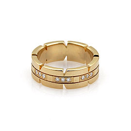 Cartier 18K Yellow Gold Diamond Ring Size 5