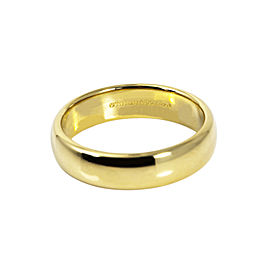 Tiffany & Co.18K Solid Yellow Gold 5.9 mm Wedding Band Ring 10.7 Grams Size 11