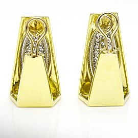 Henry Dunay Vintage Diamond 18k Yellow Gold Earrings