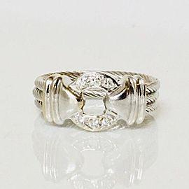 Charriol 18k Nautical Diamond Ring 750 White Gold Size 6