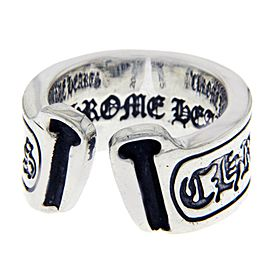 Chrome Hearts 925 Sterling Silver Open Scroll Ring Size 10