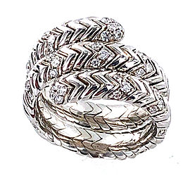 Bulgari Spiral Diamond 18k White Gold Ring