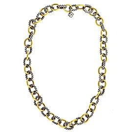 David Yurman Two Tone Interlocking Chain Necklace