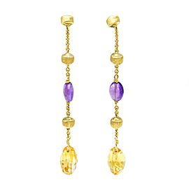 Marco Bicego Amethyst Citrine 18k Yellow Gold Paradise Mixed Drop Earrings