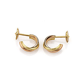 Cartier Trinity 18k Tri Color Gold Mini Hoop Earrings