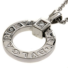 Bulgari 18KWG Diamond Necklace
