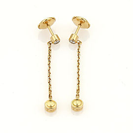Cartier Love 18K Yellow Gold Diamond Drop Earrings