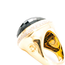 DAVID YURMAN 18K Yellow Gold 1.24Ct Diamond Black Onyx Ring 26.7 Grams Size 8.5