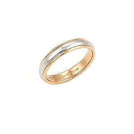 Tiffany & Co. 18K Rose Gold, Platinum Wedding Ring Size 5.5