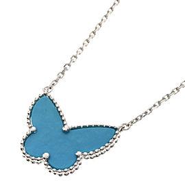 Van Cleef & Arpels 18K WG Turquoise Necklace