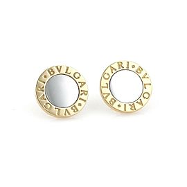 Bulgari 18K Yellow Gold, Stainless Steel Earrings