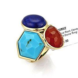 Ippolita 18K Yellow Gold Turquoise, Lapis Lazuli Ring Size 7