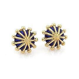 Tiffany & Co. 18K Yellow Gold Enamel Earrings