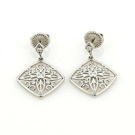 Hearts On Fire 18K White Gold Diamond Earrings