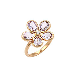 Tiffany & Co. 18K Rose Gold Amethyst, Diamond Ring Size 5