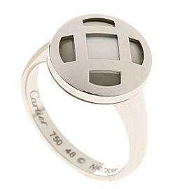 Cartier 18K WG Cartier Pasha Ring Size 4.5