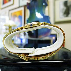 Cartier Vendome 18K Tri-Color Yellow Rose White Solid Gold Ladies Watch