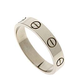 Cartier 18K WG Mini Love Ring Size 5.25