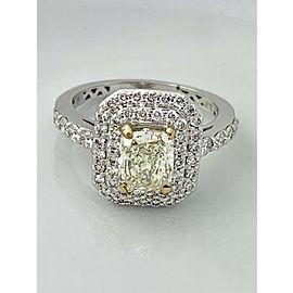 18K White Gold Diamond Ring Size 5.25