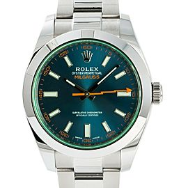 Rolex Milgauss 116400GV Mens Automatic Watch With Box & 2018 USA Papers 40mm