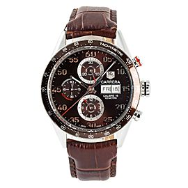 Tag Heuer Carrera CV2A12 Mens Automatic Watch With Box & Papers SS 44mm
