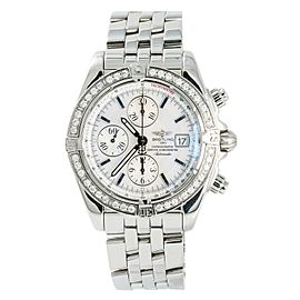 Breitling Chronomat Evolution A13356 Mens Automatic Watch Factory Diamond 43mm