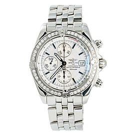 Breitling Chronomat Evolution A13356 Mens Automatic Watch Factory Diamond 43mm