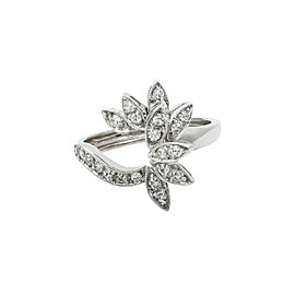 14K White Gold 0.75 Ct FVS1 Diamond Cocktail Ring 5.4 Grams Size 6.75