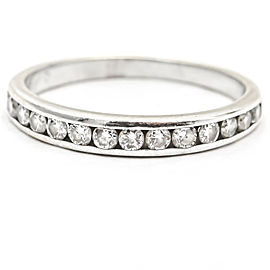 .70 Carat 14k White Gold Channel Set Diamond Band Ring