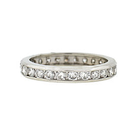 14k White Gold Diamond Eternity Band Approx 1.04 tcw