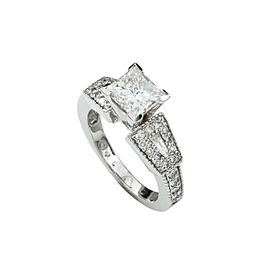 14K White Gold 2.59 Ct Diamond Engagement Band Ring 6.5 Grams Size 6
